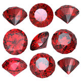 Round garnet Royalty Free Stock Photography