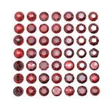 Round garnet isolated. Gemstone Stock Image