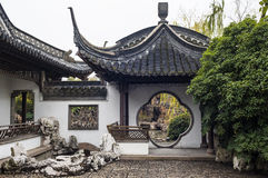 The round gate in Chinese style garden Stock Images
