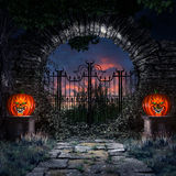 Round gate to garden Royalty Free Stock Photography