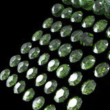 Round gemstone . Emerald. Peridot Stock Image