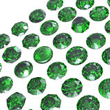 Round gemstone  isolated.Eemerald.Peridot Royalty Free Stock Image