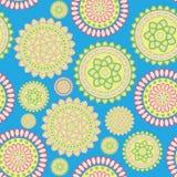 Round geometric flower. Beautiful eastern style pattern of round geometric flowers Royalty Free Stock Photos