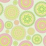 Round geometric flower. Nice vector seamless pattern in oriental style Stock Photo