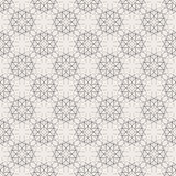 Round Geometric Linear Seamless Pattern Stock Images