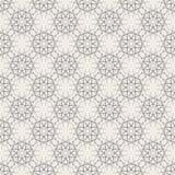 Round Geometric Linear Seamless Pattern. Round Linear Seamless Pattern with lace vintage decorative geometric elements. Modern monochrome geometric background Stock Images