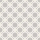 Round Geometric Linear Seamless Pattern. Round Linear Seamless Pattern with vintage decorative geometric elements. Modern monochrome geometric background Royalty Free Stock Photo
