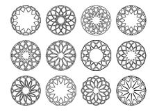 Round geometric ornaments Royalty Free Stock Photo
