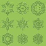 Round Geometric Ornaments Set Isolated Royalty Free Stock Image