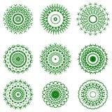 Round Geometric Ornaments Royalty Free Stock Photos