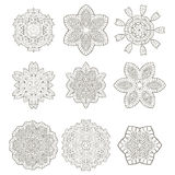 Round Geometric Ornaments Royalty Free Stock Images