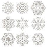 Round Geometric Ornaments Set Royalty Free Stock Photography