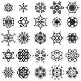 Round Geometric Ornaments Set. Isolated on White Background royalty free illustration