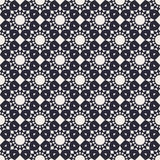 Round Geometric Seamless Pattern. Round Seamless Pattern with vintage ethnic decorative elements. Modern monochrome geometric background. Contemporary graphic Royalty Free Stock Photos
