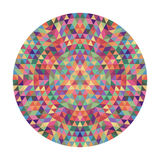 Round geometric triangle mandala design - symmetric vector pattern graphic art from triangles. Round geometric triangle mandala design - symmetric vector pattern Royalty Free Stock Photo