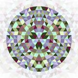 Round triangle kaleidoscope mandala design symbol - symmetrical vector pattern art from colorful triangles Royalty Free Stock Photo