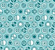 Round geometry  pattern Royalty Free Stock Image