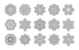 Round geometryczny ornament ilustracja wektor