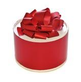 Round gift box Stock Image