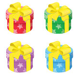 Round Gift Box Royalty Free Stock Photos