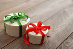 Round gift boxes Stock Image