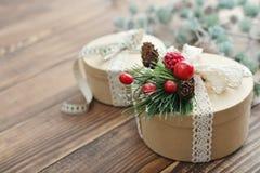 Round gift boxes Stock Photo