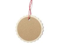 Round gift tag Royalty Free Stock Photography