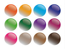 Round glass buttons illustration Stock Photo