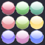 Round glass buttons Stock Images