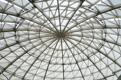 Round glass ceiling for lighting to save power and energy Royalty Free Stock Image