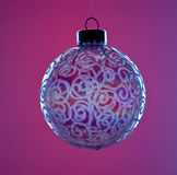 Round Glass Christmas decoration stock images
