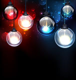 Round Glass Light Bulbs Royalty Free Stock Photo