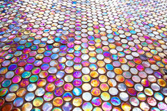 Round glass mosaic tile Royalty Free Stock Photography