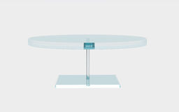 Round of glass table Stock Images
