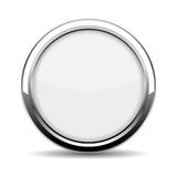 Round glass web button. Illustration on white background Royalty Free Stock Photography