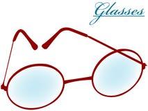 Round glasses isolated on white Royalty Free Stock Photo