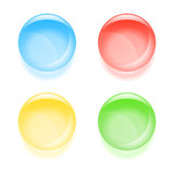 Round glassy buttons Stock Images