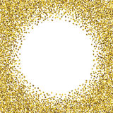 Round glitter gold frame. Royalty Free Stock Photo