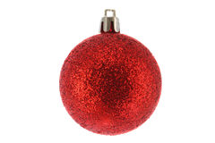 Round glittery Christmas ornament Royalty Free Stock Photos