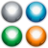 Round glossy buttons Royalty Free Stock Photo