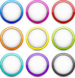 Round glossy buttons. Stock Photos