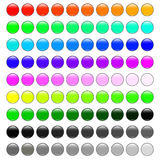 Round glossy colorful web buttons set  illustration Royalty Free Stock Photos