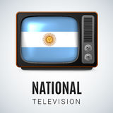 Round glossy icon of Argentina Royalty Free Stock Image