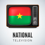 Round glossy icon of Burkina Faso Royalty Free Stock Images
