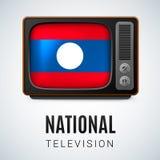 Round glossy icon of Laos Stock Photos