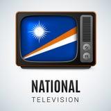 Round glossy icon of Marshall Islands Royalty Free Stock Photos
