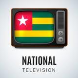 Round glossy icon of Togo Stock Photos