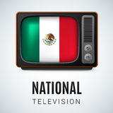 Round glossy icon of United Mexican States Royalty Free Stock Images
