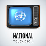 Round glossy icon of United Nations Royalty Free Stock Images
