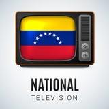Round glossy icon of Venezuela Royalty Free Stock Photo